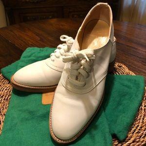 EUC Ralph Lauren white Bucks.